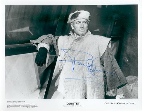 Paul Newman Vintage Signed Photo From The Movie 'Quintet'! 1979!