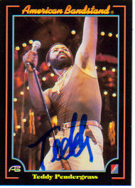 Teddy Pendergrass Signed 'American Bandstand' Vintage Collectors Card!