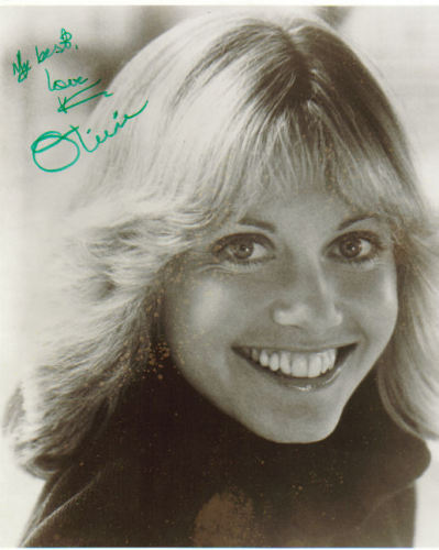 Olivia Newton-John Young Signed Photo!