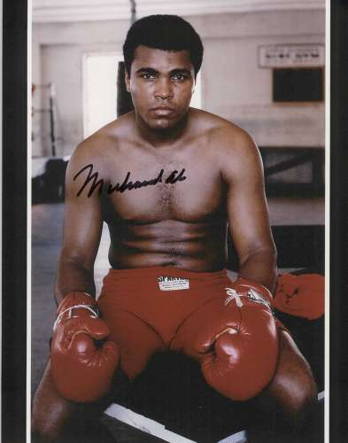 Muhammad Ali Super Closeup Autographed Photo - Nice!