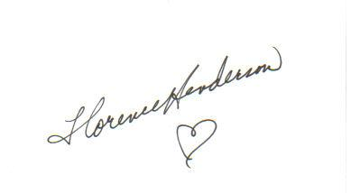 Florence Henderson 'The Brady Bunch' Signed Index Card!