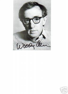 Woody Allen Signed Closeup 5X7 Photo!