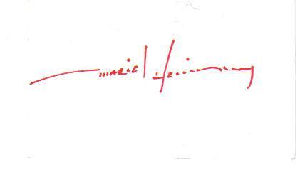 Mariel Hemingway Signed 3X5 Index Card!