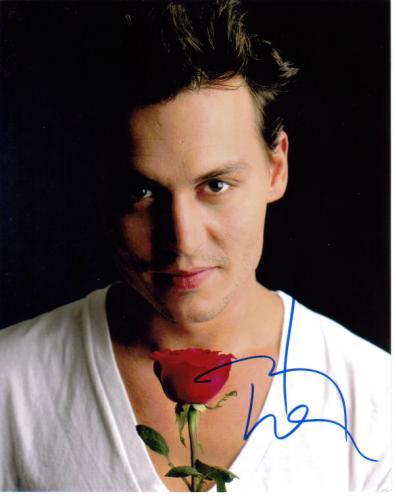 Johnny Depp Handsome Closeup Pose Autographed Pic!