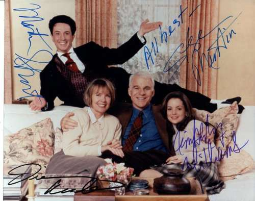 'Father of the Bride' Cast Photo Autographed by all 4!
