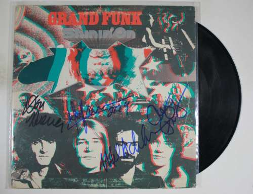 Grand Funk Railroad Awesome Autographed 'Shinin On' Album Cover with LP!