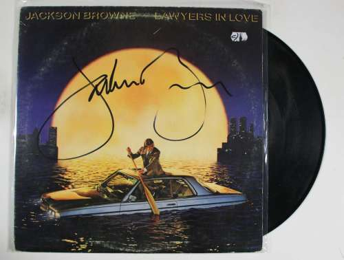 Jackson Browne Vintage Autographed 'Lawyers in Love' Album Cover with LP!