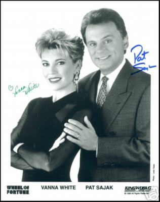 'Wheel Of Fortune' Photo Signed By Vanna & Sajak!