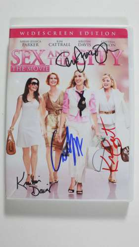 'Sex in the City' Autographed DVD Case by 4 w/DVD - Cool!