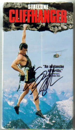 Sylvester Stallone Autographed 'Cliffhanger' VHS Movie!