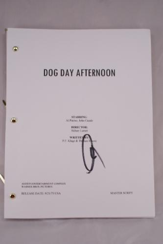 Al Pacino 'Dog Day Afternoon' Signed Movie Script - Neat!!