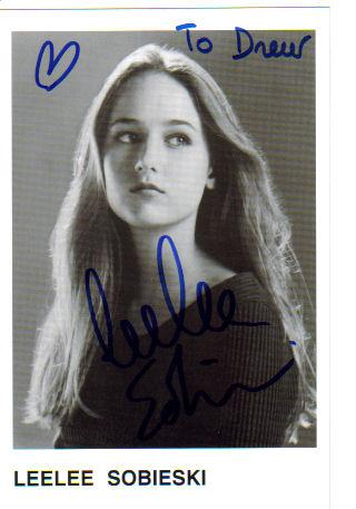 Leelee Sobieski Pretty Signed & Inscribed 4X6 Photo!