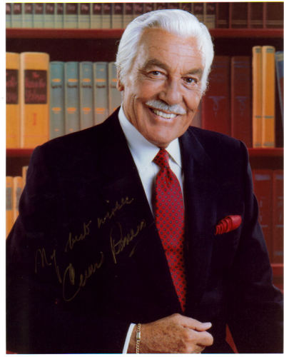 Cesar Romero Candid Autographed Photo!