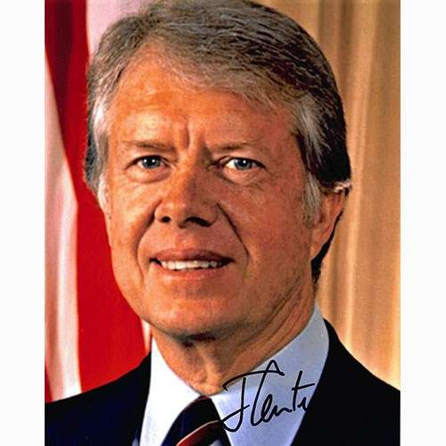 Jimmy Carter (as President) Awesome Autographed Vintage Photo!