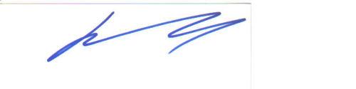 John Travolta Signed Index Card!