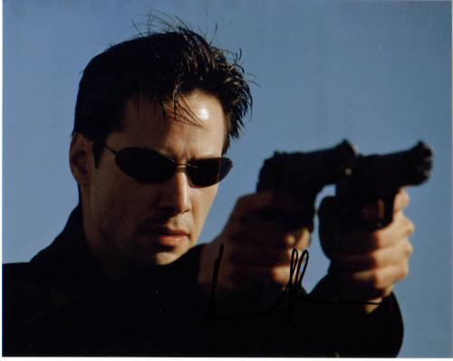 Keanu Reeves Incredible Closeup Signed Photo!