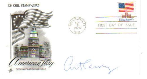 Art Carney 'Honeymooners' Vintage Signed First Day Cover!