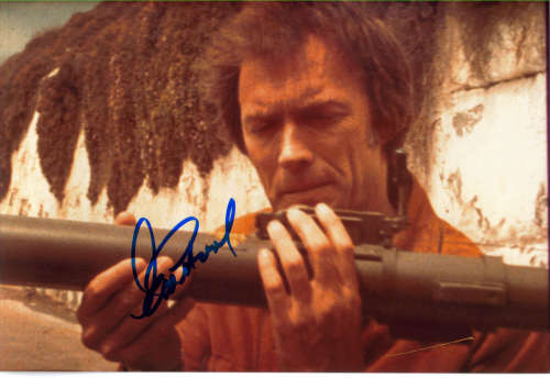 Clint Eastwood 'Dirty Harry' 12x8 Autographed Photo - Neat!