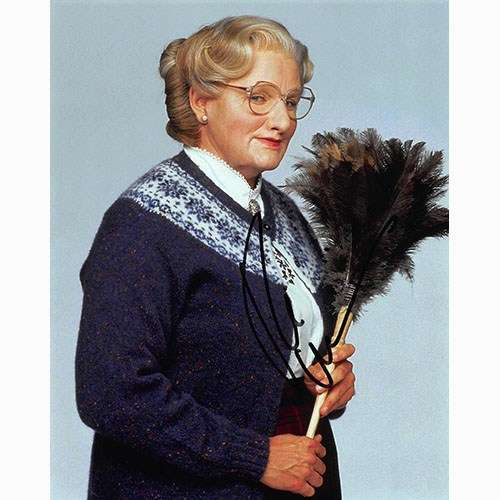 Robin Williams as 'Mrs. Doubtfire' Autographed Photo Cool!
