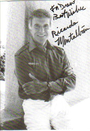 Ricardo Montalban 'Fantasy Island' Signed & Inscribed 4X6 Photo!