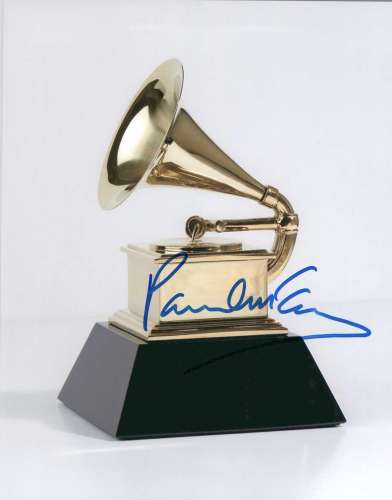 Paul McCartney Autographed Grammy Award Photo - Cool!