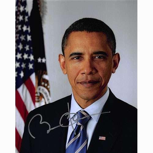Barack Obama as President Awesome Autographed Photo!