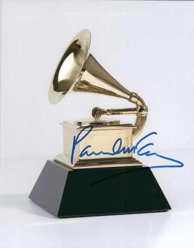 Paul McCartney Autographed Grammy Award Photo - Cool!