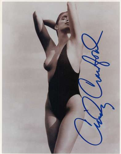 Cindy Crawford Gorgeous & Topless Autographed Photo!