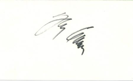 Johnny Carson Signed Index Card (Light Image)