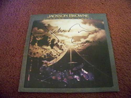 Jackson Browne 'Running On Empty' Autographed Album Cover (No LP)