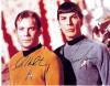 William Shatner & Leonard Nimoy 'Star Trek' Vintage Signed Photo - Wow!