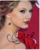 Taylor Swift Beautiful Closeup Autographed Photo!