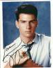 Tom Cruise Young & Handsome Vintage Autographed Photo!