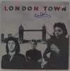 Paul McCartney Very Rare Autographed 'London Town' Album Cover - Cool!
