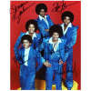'Jackson 5' Rare & Vintage Autographed Photo by All - Outstanding!