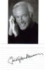 Christopher Plummer Great Signed Index Card With 3X5 Photo!