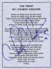 Chubby Checker Autographed 'The Twist' Lyric Sheet - Cool!