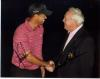 Tiger Woods & Arnold Palmer Awesome Autographed Photo!