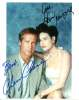 Chevy Chase & Demi Moore Awesome Vintage Autographed Photo!