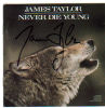 James Taylor 'Never Die Young' Signed CD Insert (CD Included)